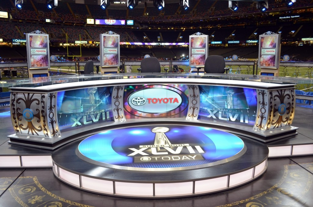 CBS NFL Today SB XLVII Set