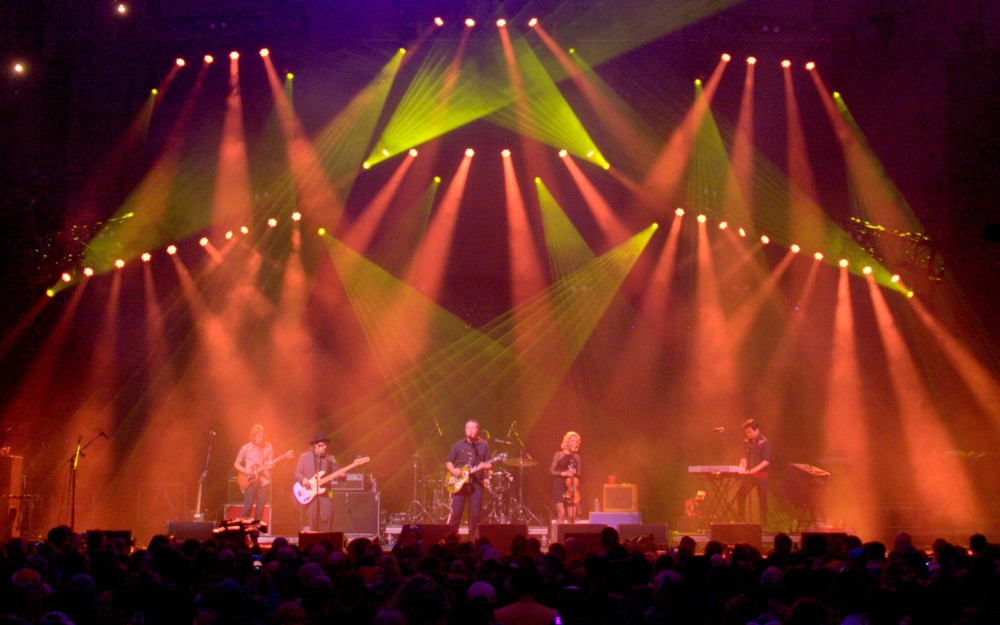 Pulse Lighting providing stage lighting for Warren Haynes Christmas Jam 2014.