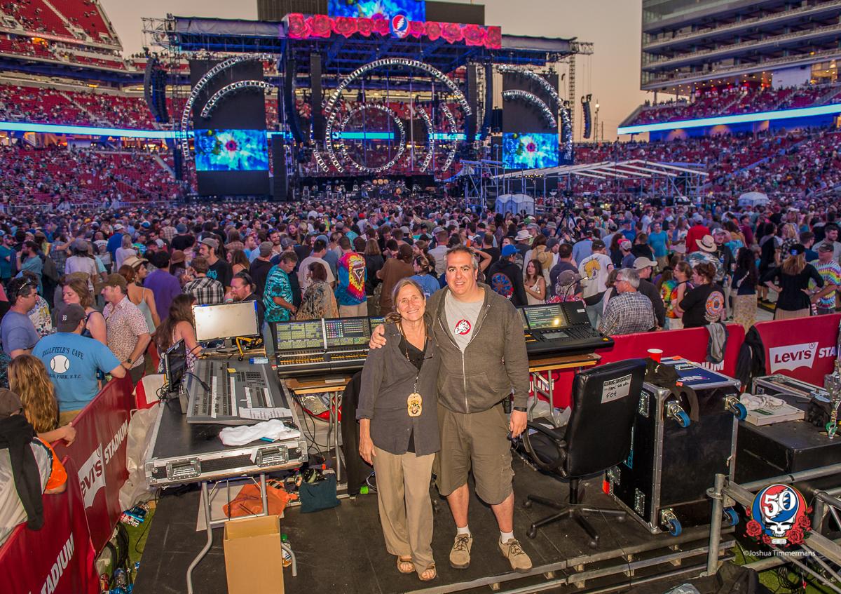 Candace Brightman & Paul Hoffman of Pulse Lighting @ Grateful Dead 50, Fare The Well · Levi's Stadium, Santa Clara, CA · Jun 2015 · Photo ©Joshua Timmermans